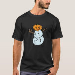 The Snowman And The Pumpkin Birthday Gift T-Shirt