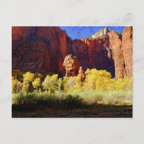 The Temple of Sinawava, Zion, Utah, Postcard postcard