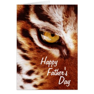 The Tiger's Eye Photograph Father's Day Card