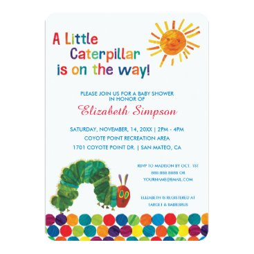 The Very Hungry Caterpillar Baby Shower Card