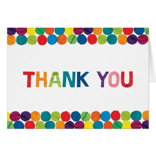 The Very Hungry Caterpillar Thank You Card Zazzle Com