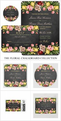 The Vintage Floral Chalkborad Collection