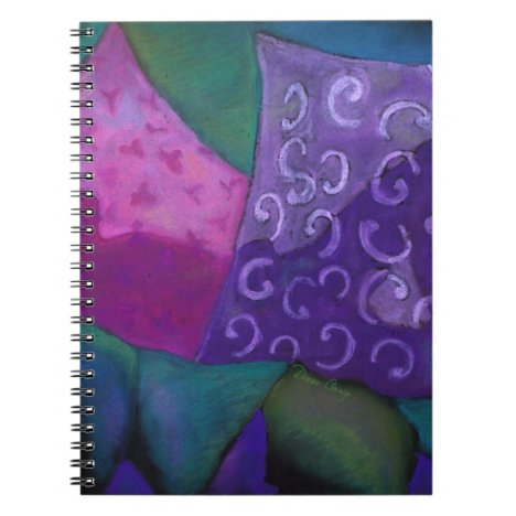 The Whimsical Hideaway - Purple and Magenta Heaven Notebook