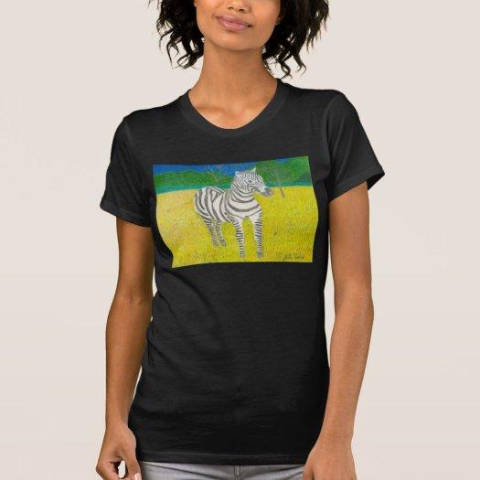 The Zebra by Julia Hanna T-Shirt