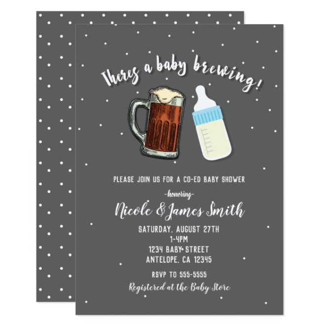 There S A Baby Brewing Beer Mugs Co Ed