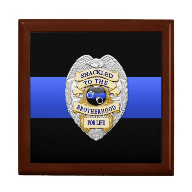 Thin Blue Line  Police Challenge Coin Box  Zazzlecom