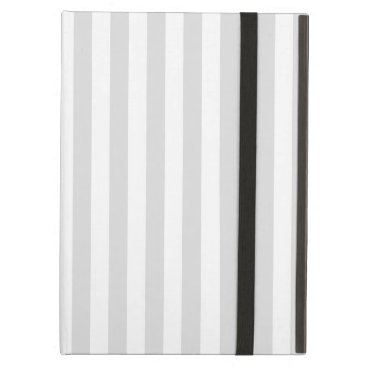 Thin Stripes - White and Light Gray Case For iPad Air