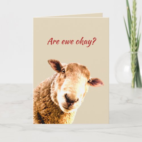 Thinking of Ewe Funny Sheep Animal Humor Card