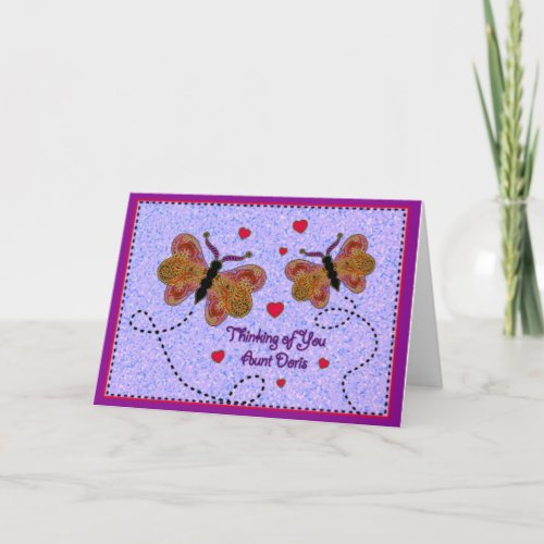 Thinking of You Aunt Doris Card