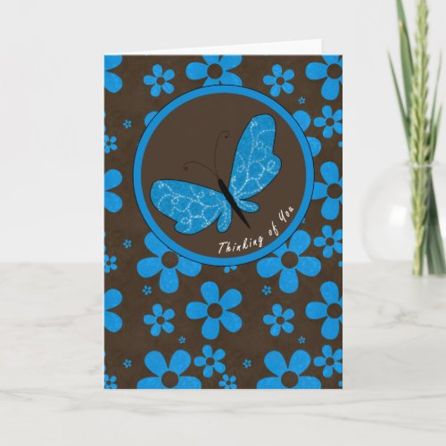 Thinking of You - Butterfly Greeting Card