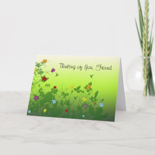 Thinking of You, Friend Card