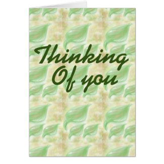 Thinking of your leaf pattern add your message
