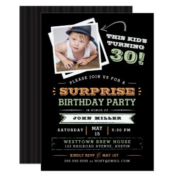 This Kid's Turning Old! Surprise Birthday Photo Invitation