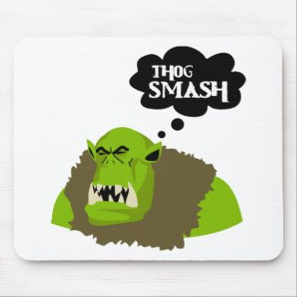 Thog Smash mousepad