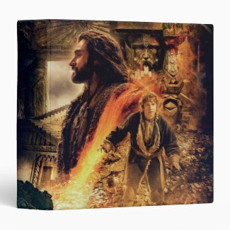 Thorin and Bilbo in Erebor 3 Ring Binder