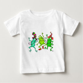 Three Dancing Frogs Baby T-Shirt