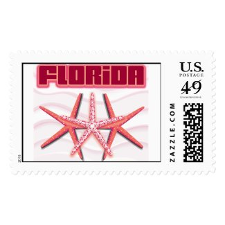 Three Florida Starfish Stamp
