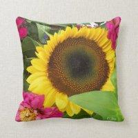 Throw Pillow: Sunflower Pillow | Zazzle