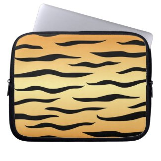 Tiger animal stripes pattern computer sleeves