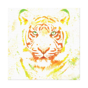 Tiger Art Paint Canvas Print