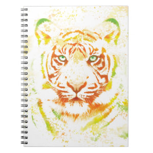 Tiger Art Paint Spiral Notebook