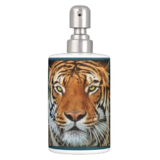 Tiger in Water Photograph Bath Sets