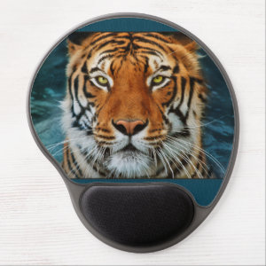Tiger in Water Photograph Gel Mouse Pad