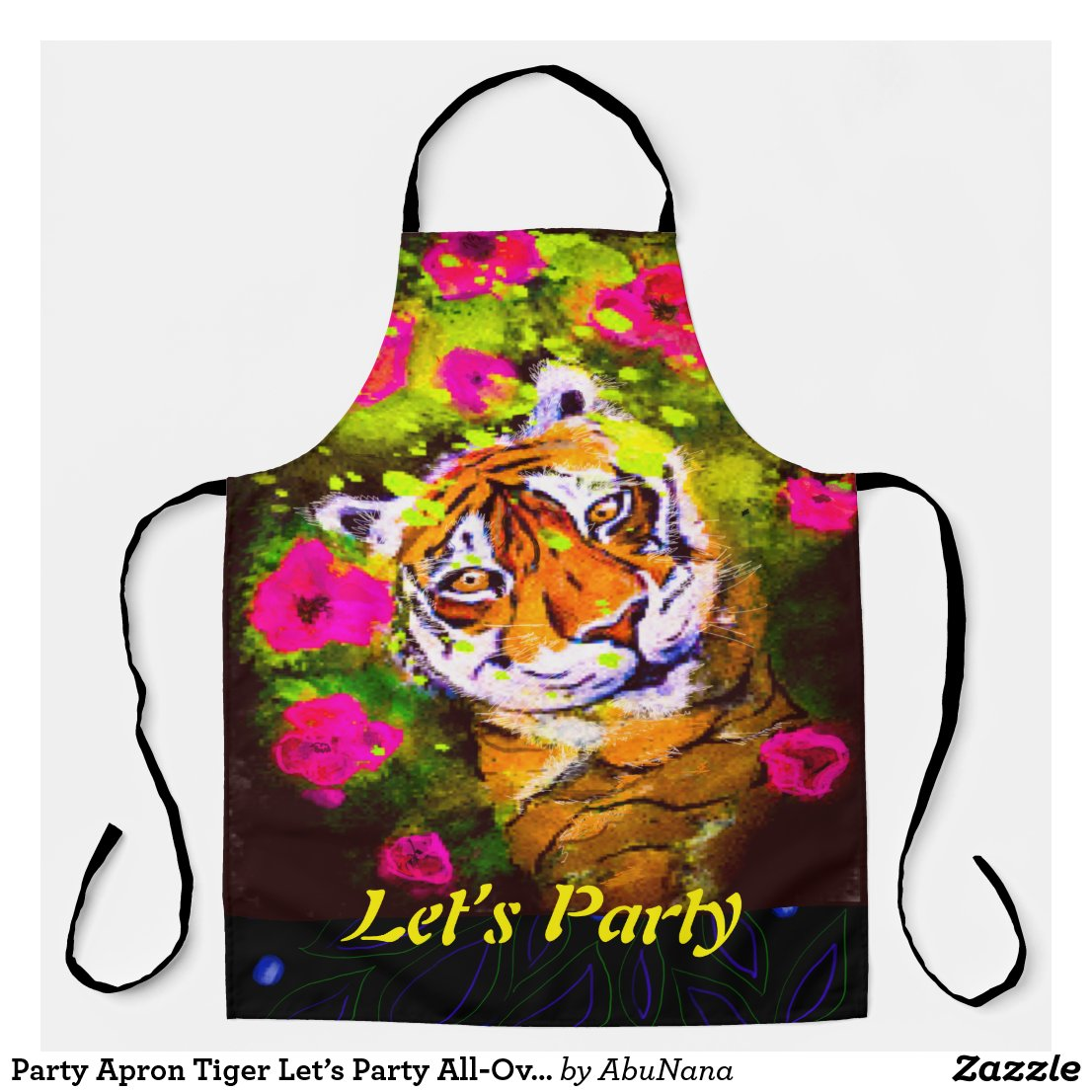 Tiger Let's Party All-Over Print Apron