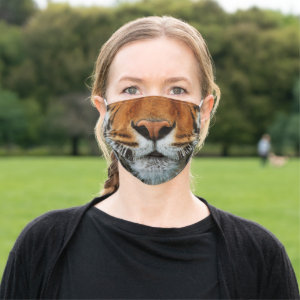 Tiger Nose and Mouth Image Cloth Face Mask