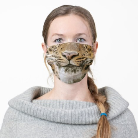 Tiger Nose and Mouth Smile Adult Cloth Face Mask