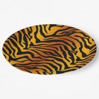 Tiger Paper Plate   Zazzle.com