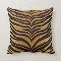 Tiger Print Throw Pillow | Zazzle