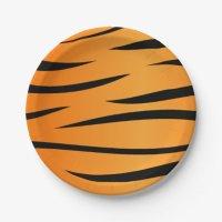Tiger Stripes 7 Inch Paper Plate   Zazzle