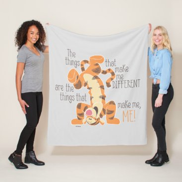 Tigger | Make Me, Me Quote Fleece Blanket