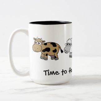 Time to feed the animals! Virtual Farmers mug