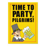 Time To Party Pilgrims Friendsgiving Invitation