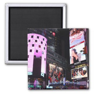 Times Square in New York City (pink) Refrigerator Magnets