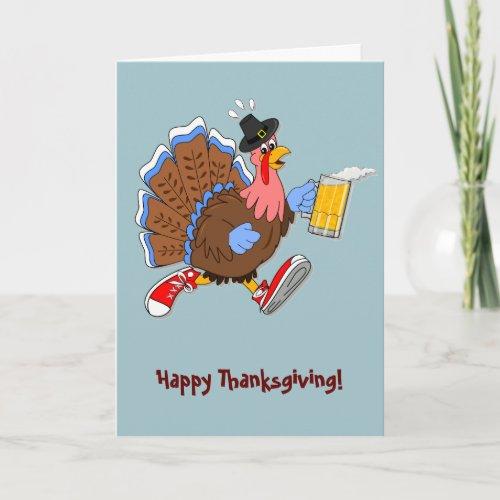 Tipsy Turkey (Beer) Holiday Card