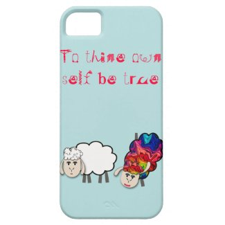 To thine own self be true sheep iphone 5 covers