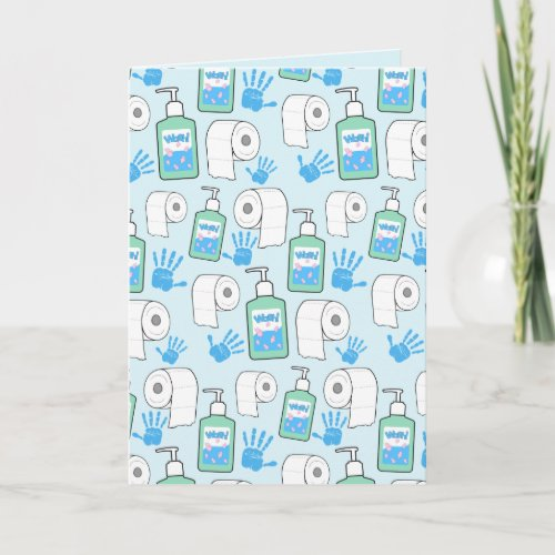 Toilet Paper and Hand Sanitizer Pattern Card