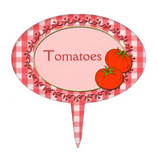 Tomatoes garden marker or cake toppers