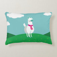 Tommy the Llama Accent Pillow