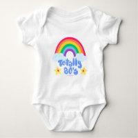 Totally 80s rainbow baby bodysuit