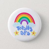 Totally 80s rainbow button