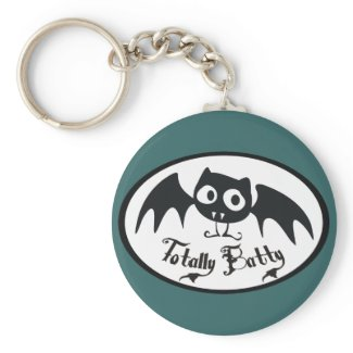 Totally Batty keychain