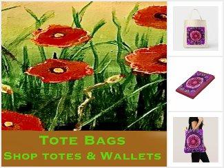 Tote Shopping Bags, Purses,  Etc.