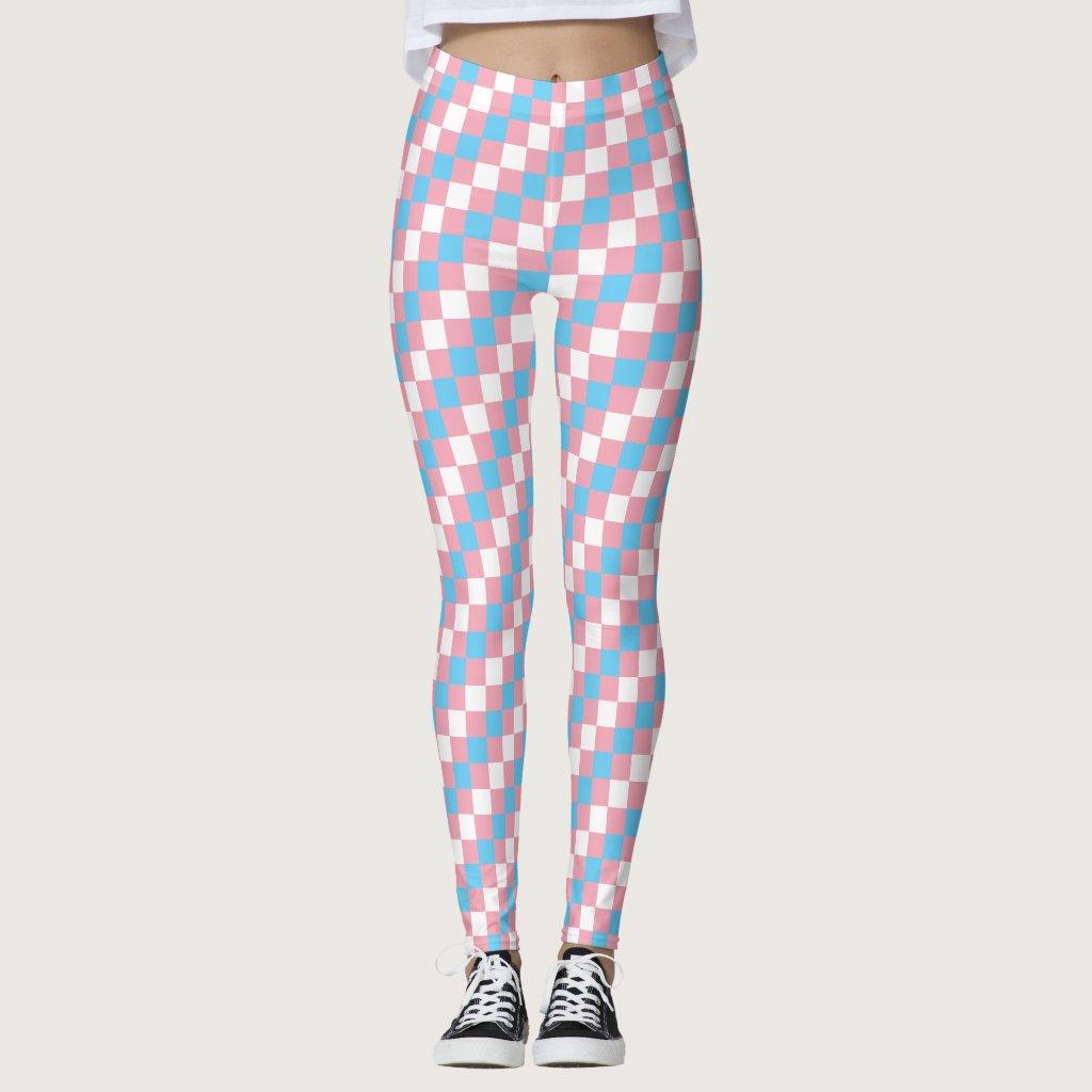 Transgender Flag Pixels LGBT Pride Gaymer Leggings