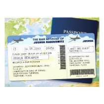 Travel Documents Bar or Bat Mitzvah Invitation