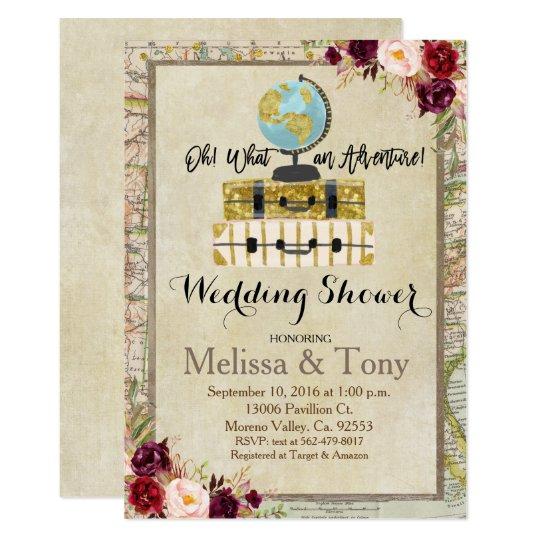 Travel Theme Wedding Shower Invitation