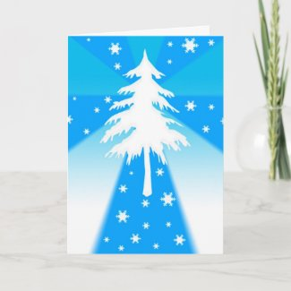 Tree and snowflakes - Card card